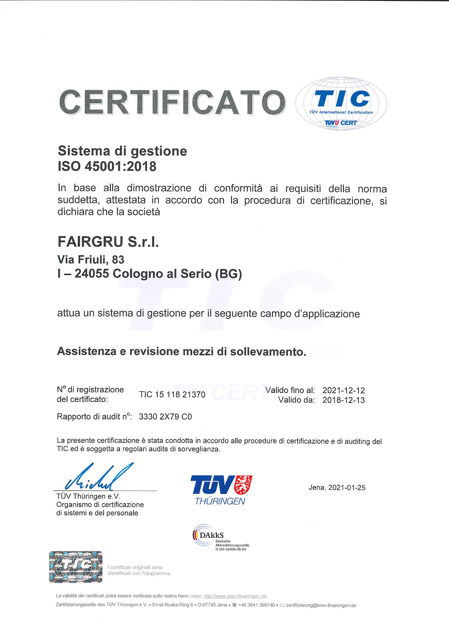 certificazione TIC